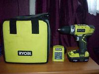 ryobi one + cordless drill £65