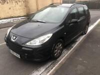 2007 07reg Peugeot 307 1.6 Hdi Estate Black