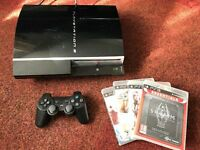 Playstation 3 80GB with 4 games