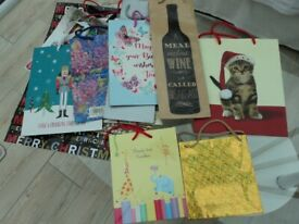 BATCH OF 14 GIFT BAGS (CHRISTMAS, BIRTHDAY etc) - £5 the lot.