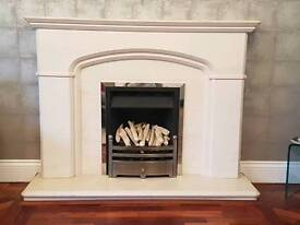 Gas Fireplace and surround