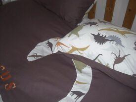 Next Dinosaur Double Duvet Cover, Four Pillow Cases& Rug