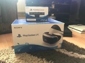 Playstation VR Heaset and Camera, unwanted Christmas present used once, still boxed.