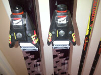 2M Long Solomon Skis, Bindings, Poles And Bag