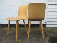 Vitra Jasper Morrison Hal ply wood chairs x 2