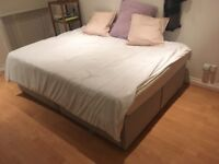 Divan Double Bed with 4 drawers and mattress