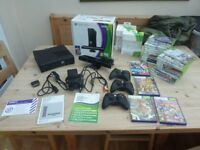 HUGE XBOX 360 BUNDLE 250GB Kinect 3 Controllers 33 Games Boxed and Instructions