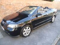 VAUXHALL ASTRA CONVERTIBLE, 03 REG WITH A FULL MOT, FULL HISTORY, TOP SPEC WITH HEATED LEATHER SEATS