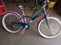 "BTWIN Decathlon BTWIN Poply 500 24"" Kids Hybrid Bike"