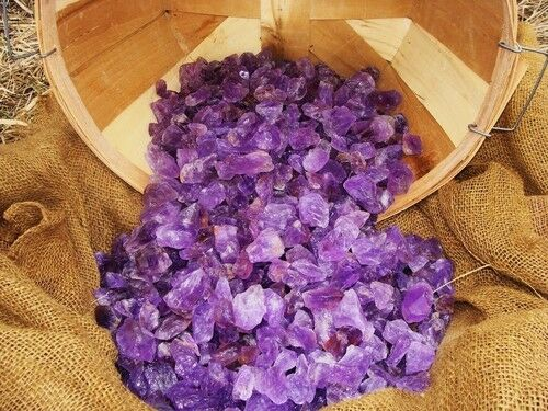 2000 Carat Lots of Unsearched Natural Amethyst Rough + a FREE Faceted Gemstone