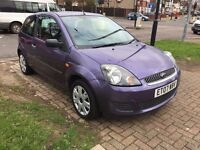 4 BRAND NEW TYRES,12 Months MOT,FORD FIESTA STYLE-1.2 2007,MAUVE/PURPLE,3 DOORS, MANUAL,SINGLE OWNER