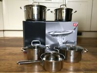 Zwilling Quadro Stainless Steel Cookware Set. Brand New!