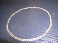 heavy 9 carat solid gold curb necklace