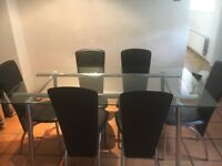 Dining room table x 6 chairs