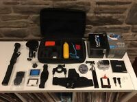 GoPro Hero 4 Silver with memory card and extras
