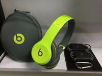 Dr.Dre Beats SOLO 2 Wireless SHOCK YELLOW £120ono