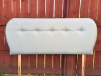 Eggshell blue double bed headboard