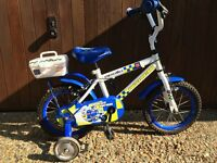 "Kids bike Apollo Police Patrol 14"" with stabilisers £25"