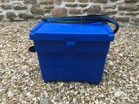 **Galaxy fishing seat box with shoulder strap**