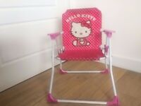 GOOD CONDITION!! Pink Hello Kitty arm rest FOLD-ABLE chair VERY CHEAP