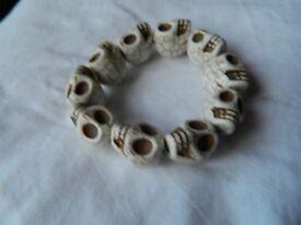 Skull stretchy bracelet