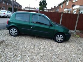 Renault Clio 1.4 cheap tax cheap insurance. reason I'm getting rid of it is change of job