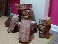 Reclaimed wire cut bricks 9 in x 4 1/3 in x 3 1/8 in