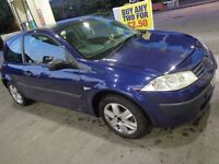 2003 renult megane 1.4 with mot cheap tax needs slight attention DRIVEAWAY OR DELIVERY AVAILABLE