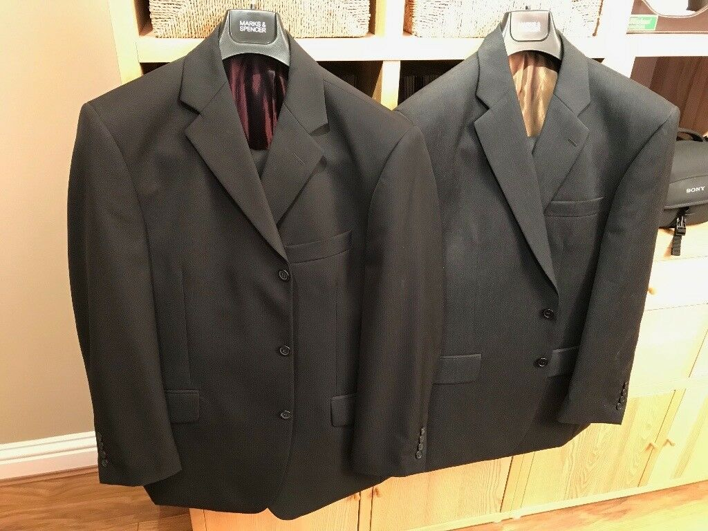 TWO new mens suits with extra trousers