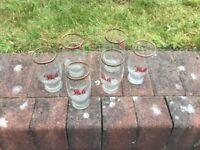 6 PATZ lager glasses vintage 1930s