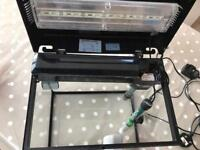 EcoStyle 32 Fish Tank (14L) including light, heater and mag clean