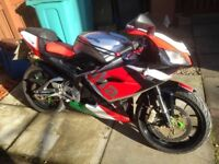 April rs125 rs 125 New Shape Full Power Mint Condition Long MOT 58 plate