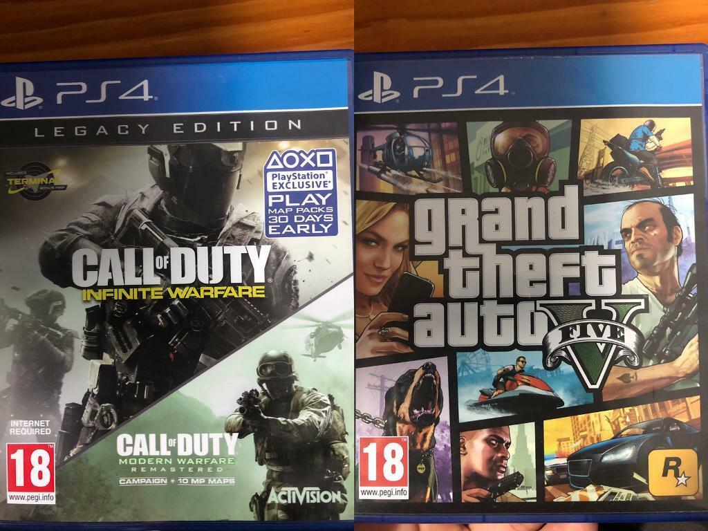 Epic PS4 Game Bundle- GTA V + COD Infinite Warfare PlayStation 4 | in  Bakersfield, Nottinghamshire | Gumtree