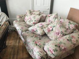 Floral sofa suite