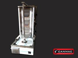 LPG CANMAC DONER KEBAB MACHINE 3 BURNER COMPACT,SLIM SIZE, BRAND NEW Shawarma