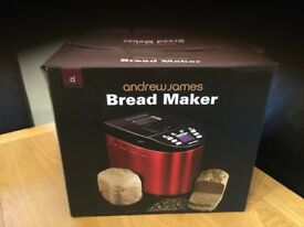 Red bread maker by Andrew James