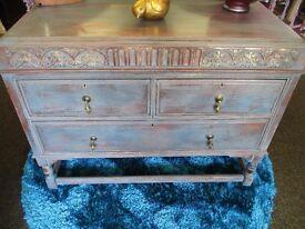 Solid wood vintage sideboard / cabinet / unit