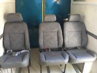 3 x Rear Van Seats. Camper / Bus. Bench