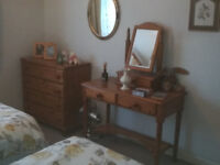Wardrobe, chest of drawers, dressing table excellent condition
