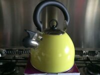 Brand New Retro lime green whistler kettle ideal for gas hobs. New unused and still boxed