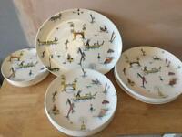 Vintage Royal Tudor Ware 'The Gondoliers' misc dinnerware