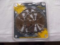 Set of 3 new circular saw blades - Atkinson Walker 190mm X 20/24/40 teeth - Pro Trade Carbide Tipped