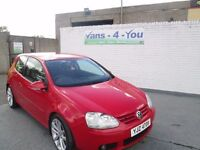 2004 Golf GT TDI 3 door in bright red 1.9 diesel mot to aug mint condition inside and out