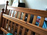 King size solid bed frame