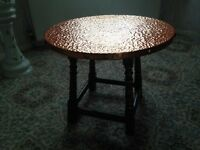 Copper topped Coffee table