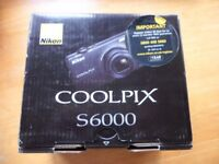Brand new Nikon COOLPIX S6000 14.2 MP Digital Camera – Black only £85
