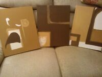 3 Abstract prints.