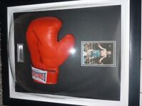 Ricky Hatton framed dome signed boxing glove