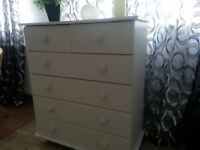 BEDROOM FURNITURE white Argos kids range Drawer packs and triple Wardrobe
