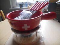 Brand New Swiss Fondue Set for Sale